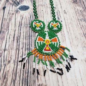 Handmade Native American Beaded Necklace